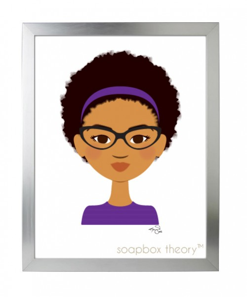 little sis in purple print