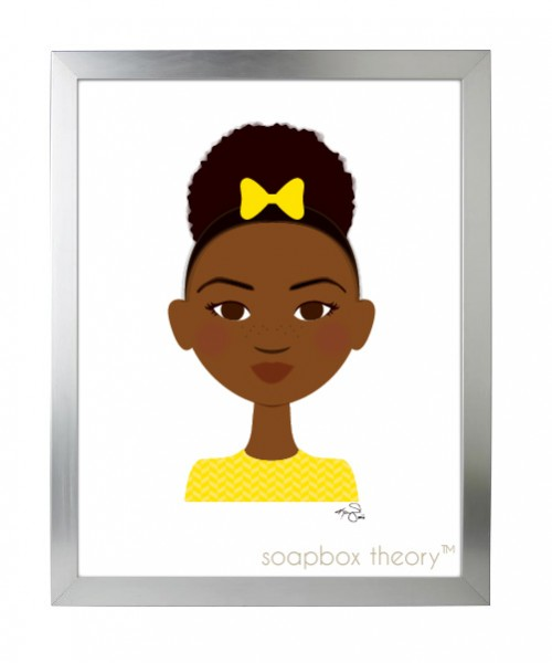 little sis in yellow print