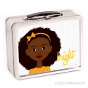 little sister in orange lunch box