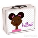 little sister in pink lunch box