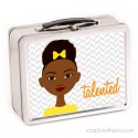 little sister in yellow lunch box