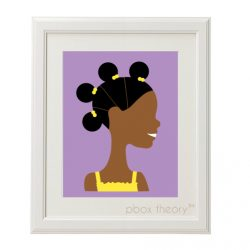 girl in yellow with puffs