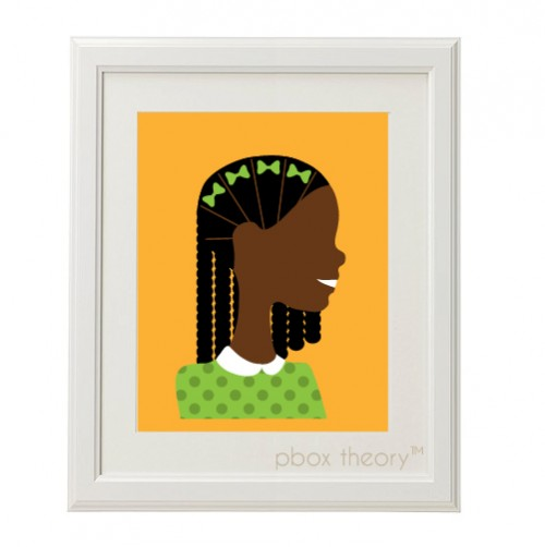 girl in green with braids