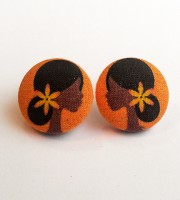 Sunset Button Earrings