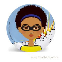superhero lunch plate (girl)