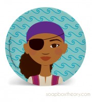 pirate lunch plate (girl)