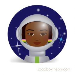 astronaut lunch plate (girl)