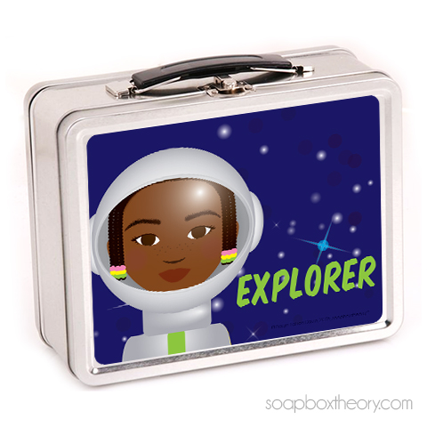 little astronaut lunch box (girl)