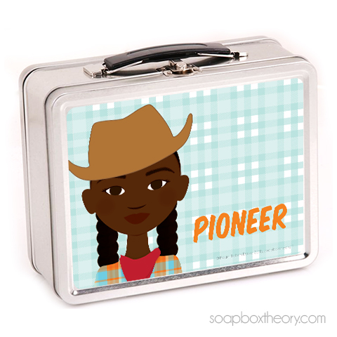 little pioneer lunch box (girl)