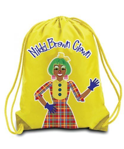 Nikki Brown Clown Drawstring Backpack (Multiple Colors)