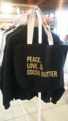 Peace, Love, & Cocoa Butter Tote